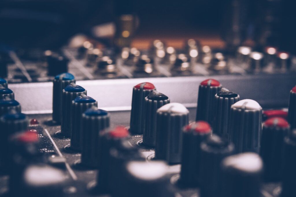macro shot audio equalizer